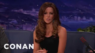 Kate Beckinsale On Underworld Suit, Acting For Swedes - Conan On TBS