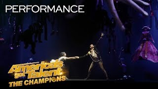 Freckled Sky Creates A STUNNING Story With Projections & Dance - America's Got Talent: The Champions