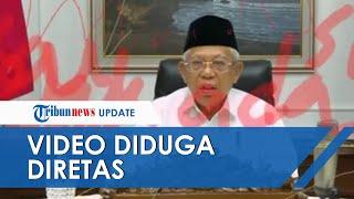 Video Wapres Maruf Amin saat Webinar UIN Malang Diduga Diretas, Dicoreti Warna Merah dan Biru
