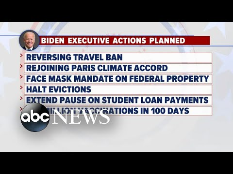 Biden plans 10-day blitz of executive actions upon Inauguration Day