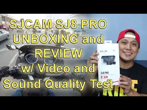 SJCAM SJ8 PRO UNBOXING / REVIEW with Test Video and Sound Quality at the end using TMAX
