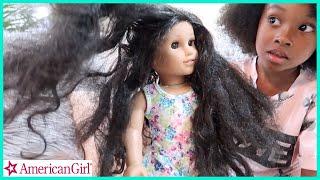 Fixing Sekoras American Girl Dolls Hair