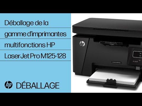 Déballage de la gamme d'imprimantes multifonctions HP LaserJet Pro M125-128