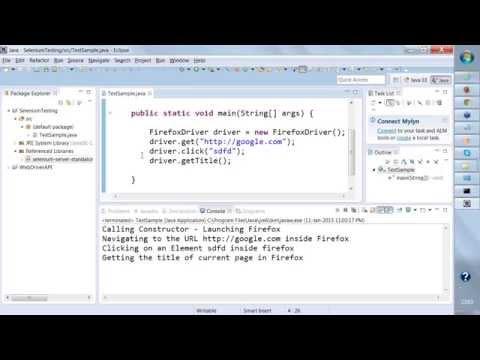 SELENIUM TRAINING Day -1 , Online Webdriver Demo (Batch 11th ...