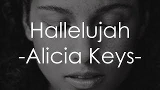 Hallelujah - Alicia Keys [Lyrics]