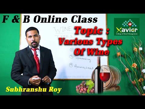 Online Class   WINE Part 2   Subhranshu Roy   F&B service   Xavier College Of Hotel Management  