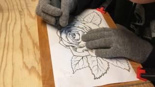 Dremel Wood Carving  Flower