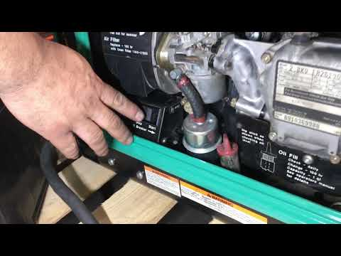 2800 Onan RV gasoline generator tutorial - смотреть онлайн