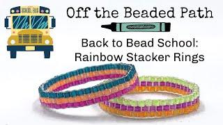 Rainbow Stacker Rings