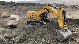 Huge Cat 6015B Excavator Loading Trucks With Two Passes - Sotiriadis Brothers