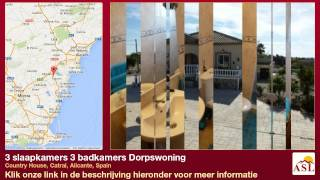 preview picture of video '3 slaapkamers 3 badkamers Dorpswoning te Koop in Country House, Catral, Alicante, Spain'