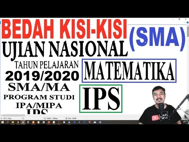 UNBK MATEMATIKA SMA IPS 2020   Bedah Kisi Kisi