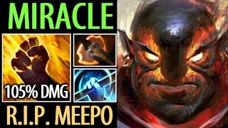 Miracle- [Ember Spirit] RIP Meepo with 105% Cleave Damage- Dota2 7.04