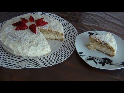 Kokos-Mandel-Creme Torte