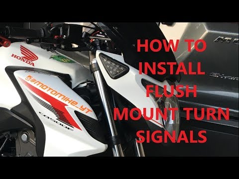 How To Wire/install Flush Mount Turn Signals on a 2013-2015 Honda CB500F