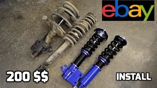 200$ EBAY Coilovers for the S13 240sx