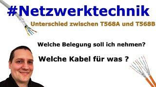 Unterschied T568A und B und welche Kabeltypen? | Netzwerkkabel / Patchkabel  / Crimpen und verlegen