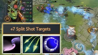 10 targets AoE Split Shot with Moon Glaives [Super Intense Game] Dota 2 Ability Draft
