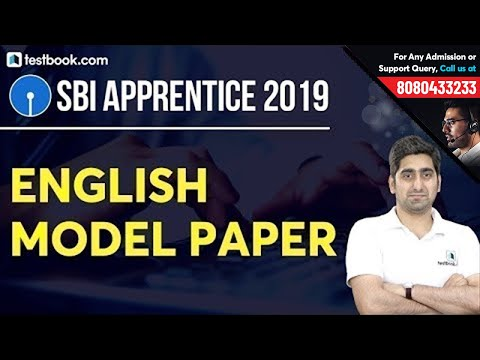 General English Model Paper for SBI Apprentice 2019   Most Expected Questions   Tips by Nitin Sir