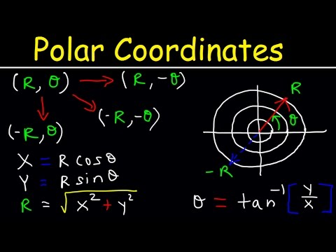 Polar Coordinates Basic Introduction, Conversion to Rectangular, How to Plot Points, Negative R Valu