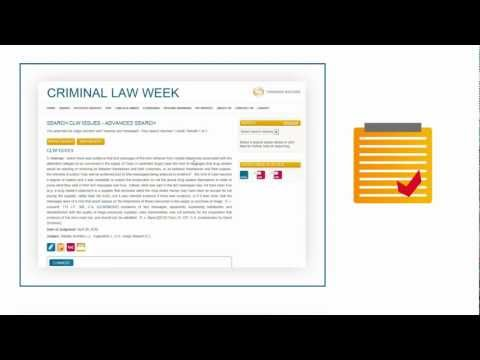 Criminal Law Week Online