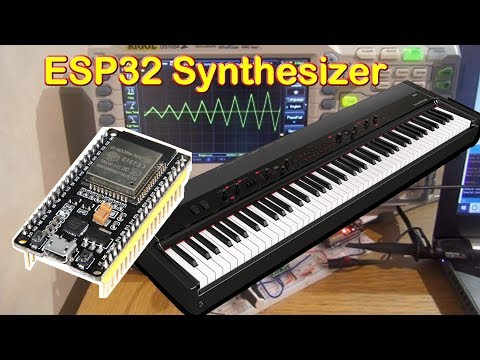 ESP32 Music Sound Synthesizer, Arduino version later, DAC Audio