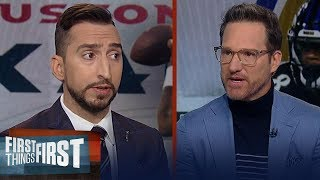 Ravens have clear cut edge over Texans, Patriots will lose to Eagles | NFL | FIRST THINGS FIRST