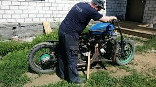ЗАПУСТИЛ !!! Мотоцикл c двигателем от Ваз 2109  Часть 8