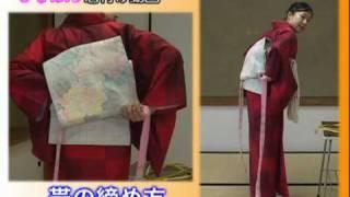 きものん着付け動画 『名古屋帯の結び方(お太鼓結び)』