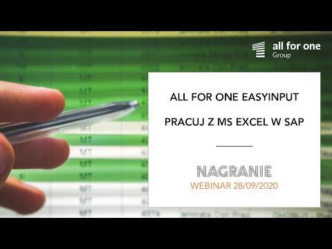 SNP EasyInput – pracuj z MS Excel w SAP