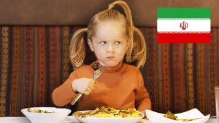 3 Year-Old Tries Iranian Cuisine! 🇮🇷