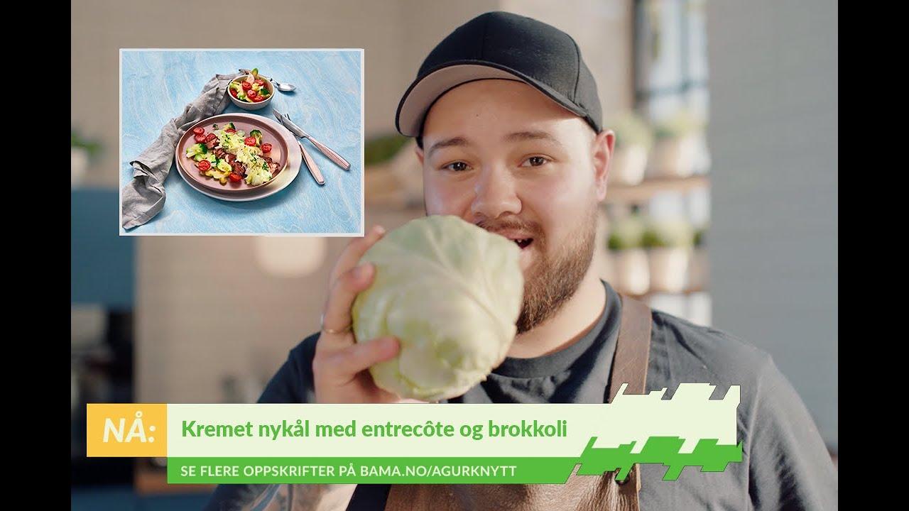Prøv en nydelig kremet nykål med grillet entrecôte og brokkoli