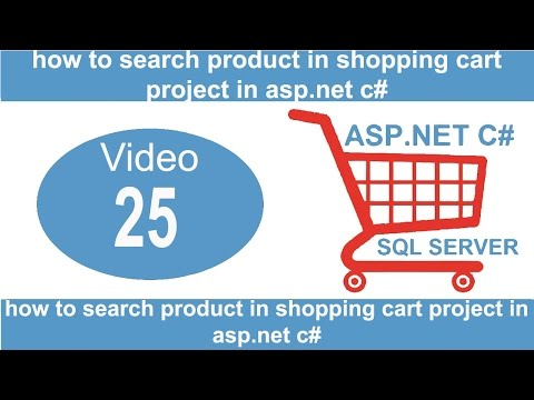 how to search product in shopping cart project in asp.net c#