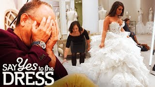 🔴Daddy's Girl Tries on a $16,000 Dress! | Say Yes To The Dress