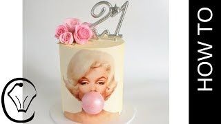 Marilyn Monroe Bubble Gum Birthday Cake by Cupcake Savvy