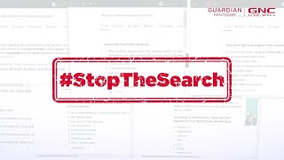#StopTheSearch At GNC | Global Leader In Health And Wellness