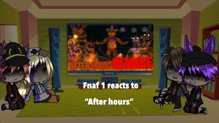 Fnaf 1 reacts to after hours
