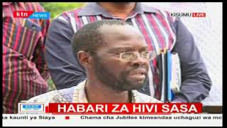 Anyang' Nyong'o thanks the people of Kisumu for voting him during the party primaries