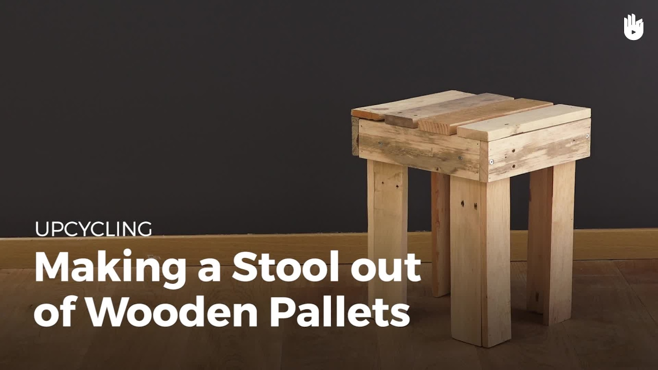 Diy Pallet Projects Wooden Stool Recycling Pallets Sikana