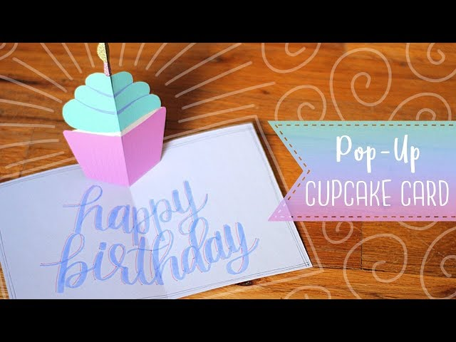 Groovy Easy Pop Up Birthday Cupcake Card Tutorial Essyjae Funny Birthday Cards Online Inifofree Goldxyz