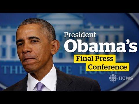Obama's final news conference as U.S. president