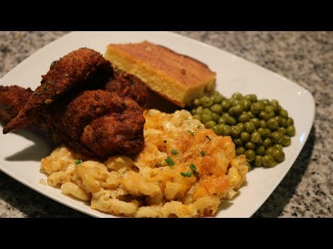 THANKS GIVING SERIES --THE BEST SOULFOOD DINNER!!-- Crispy fried chicken and Baked Mac and cheese!!!