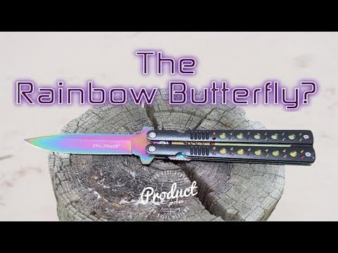 "Tac- Force: Rainbow Butterfly Knife ""Look A-like""  Review"