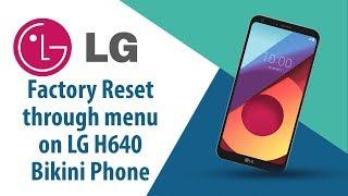 How to Factory Reset through menu on LG Bikini Phone SH640?