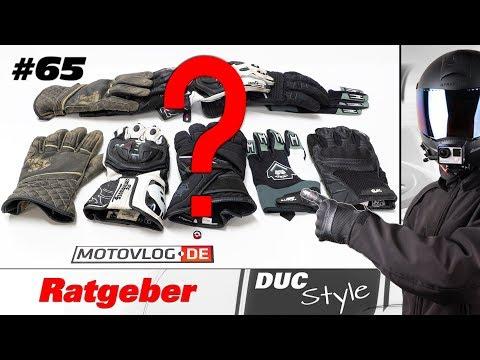 Perfekte Motorrad Handschuhe und die richtige Größe finden