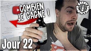 COMBIEN GAGNE UN YOUTUBER DE 100K ABONNÉS - Jour 22
