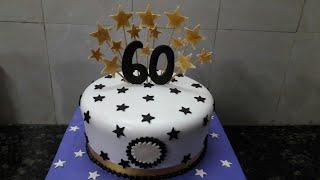 60th Birthday cake making by New Cake Wala