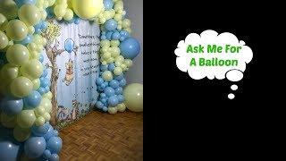 Balloon Garland With Winnie Backdrop
