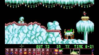 preview picture of video 'Holiday Lemmings 1993 - Flurry Level 3: Holiday Mining (1993) [MS-DOS]'