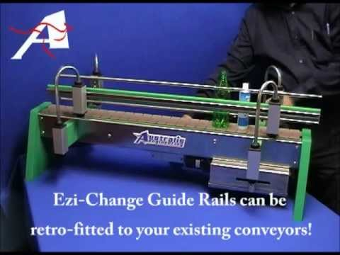 EzyChange Mk2 Guide Rails - rapid product change overs in the shortest time possible. Ideal for elevated conveying lines.